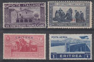 Eritrea 4 Diff MH VF 1930-31 SCV $7.65