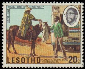 Lesotho #166-169, Complete Set(4), 1974, UPU, Never Hinged