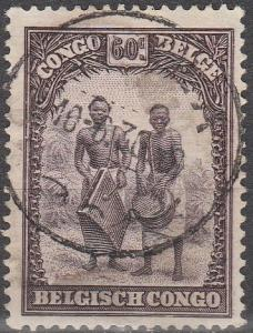 Belgian Congo #145 F-VF Used   (V1661)