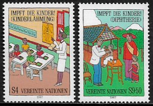 UN, Vienna #76-7 MNH Set - Immunize Every Child