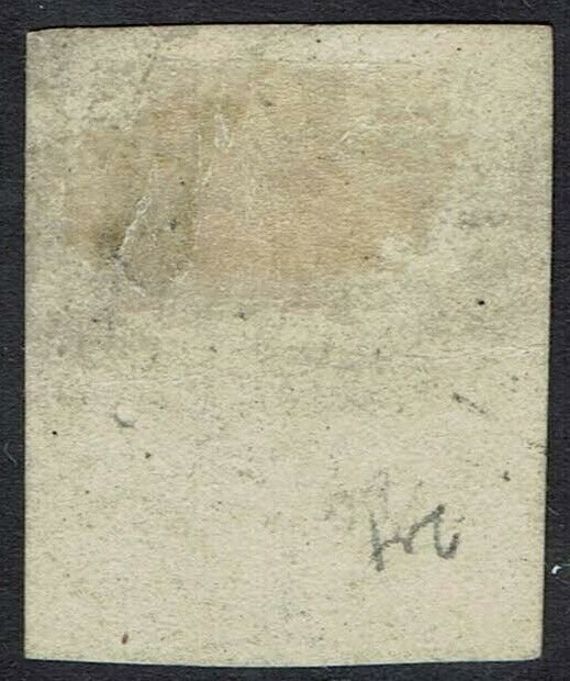 TASMANIA 1853 QV COURIER 1D USED PART IMPRINT