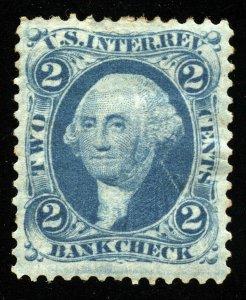 B442 U.S. Revenue Scott R5c 2c Bank Check, mint original gum