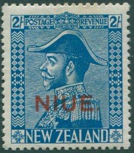 Niue 1928 SG49 2/- light blue KGV MH