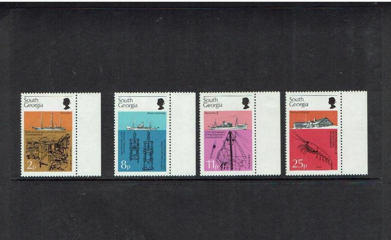 South Georgia: 1976 50th Anniversary Discovery Investigations, MNH set
