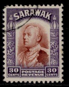 SARAWAK GV SG118, 30c red-brown & violet, FINE USED.