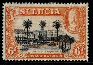 ST. LUCIA GVI SG120, 6d black & orange, M MINT.