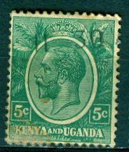Kenya Uganda & Tanzania; 1927: Sc. # 20: O/Used Single Stamp