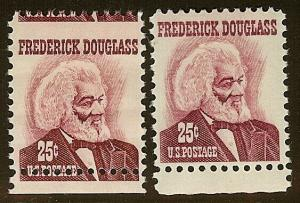 1290 - Bottom Margin Misperf Error 25c Frederic Douglas Mint NH