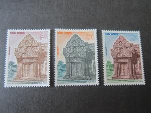 Cambodia 1963 Sc 119-21 set MNH