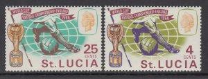 St Lucia 207-208 Soccer MNH VF