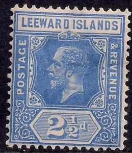 Leeward Islands 1912 - 22 KGV 2 1/2d Bright Blue MM Die 1 SG 50 ( G1380 )