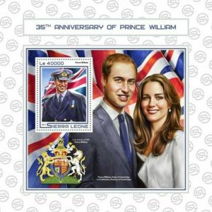 Sierra Leone - 2017 Prince William - Stamp Souvenir Sheet - SRL17511b