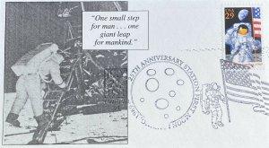 RKA Cachets 2841 25th Anniversary Moon Landing Hampton, VA