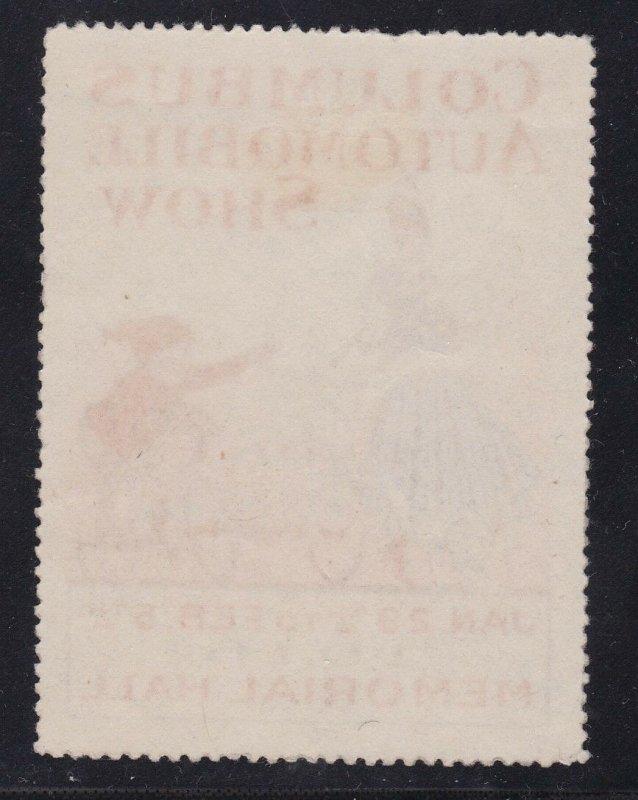 US Vintage 1916 Columbus Automobile Show Cinderella/Poster Stamp