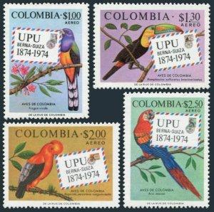 Colombia C611-C614,MNH.Michel 1275-1278. UPU-100,1984.Parrot.