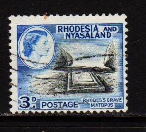 Rhodesia & Nyasaland - #162 Rhodes Grave  - Used