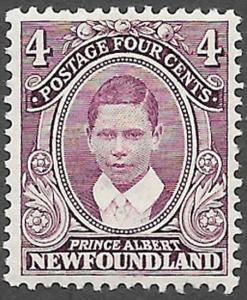 Newfoundland Scott Number 107 VF H