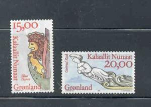 Greenland Sc 309-10 1996 Ship Figureheads stamp set mint NH