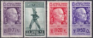 Italian East Africa #3, 5-6, 10 F-VF Unused  CV $9.75  (Z2955)