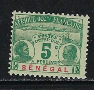 Senegal J4 Hinged 1906 Postage Due