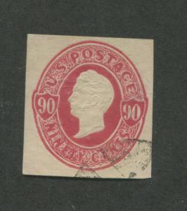 1870 United States Stamped Envelope Stationary #U105 Used Canceled Cut Square
