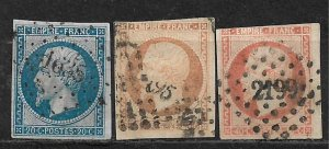 COLLECTION LOT OF 3 FRANCE 1853+
