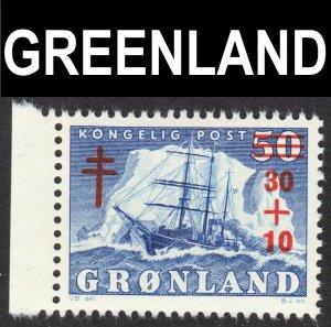 Greenland Scott B1 F to VF mint OG NH.