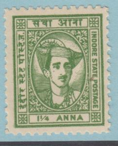 INDIA INDORE 37 MINT NEVER HINGED OG ** NO FAULTS EXTRA FINE !