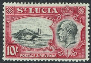 ST LUCIA 1936 KGV PICTORIAL 10/-