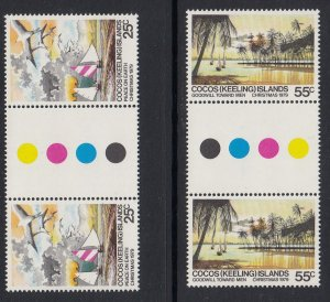 Cocos Islands 51-2 gutters MNH
