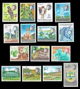 Seychelles SC 198-212 * Queen Elizabeth II * MNH * 1962
