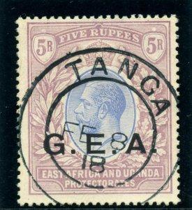Tanganyika - GEA 1917 KGV 5r blue & dull purple very fine used. SG 59. Sc N119.