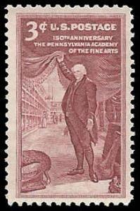 PCBstamps     US #1064 3c Pennsylvania Academy of Arts, MNH, (38)