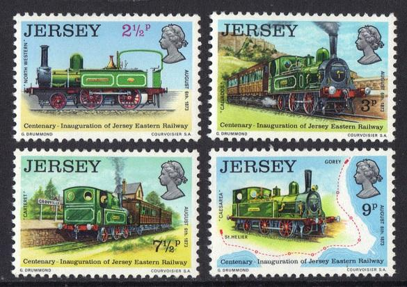 Jersey  1973 MNH Railway complete