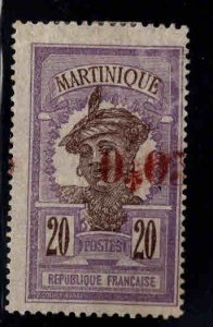 Martinique Scott 115 MH* surcharged stamp