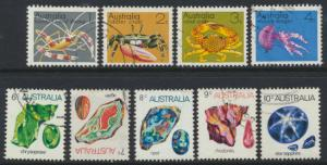 SG 545-552a  Fine Used  Marine Life & Gemstones  set of 9