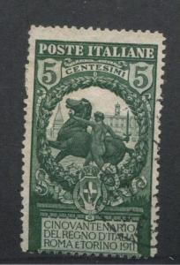 ITALY - #120 USED, VF Issue - 1911 Valor Horse  S8140