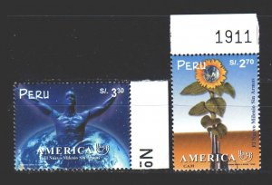 Peru. 1999. 1708-09. America, postal union. MNH.