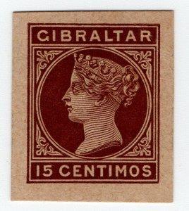 (I.B) Gibraltar Postal : Postal Stationery Die 15c