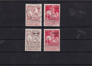 belgium 1911 ovpt mm+used stamps cat £70+  ref 7095