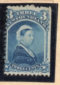 Newfoundland 1876-80 Early Issue Fine Mint Hinged 3c. NW-11913