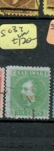 SARAWAK  (P2204B)  BROOK  4C/6C  SG  34     VFU