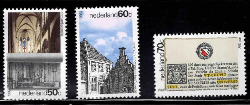 Netherlands Scott 681-683 MNH** Utrecht 1986 set
