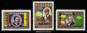 Ecuador Scott C419-C421 Mint never hinged.