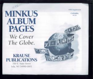 1998 Canada Minkus Stamp Album Supplement Pages #MCA98