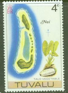 TUVALU Scott 25 MNH** Map of Nui atol