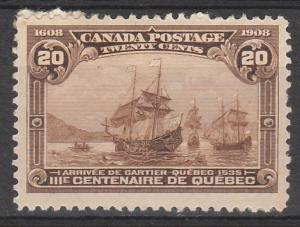 CANADA 1908 300TH ANNIVERSARY 20C