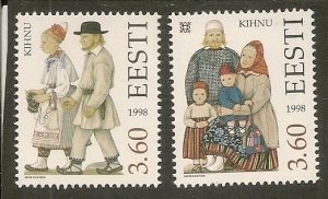 Estonia MNH 347-8 Native People & Customs 1998