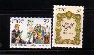 Ireland Sc 897-8 1993 Gaelic League stamp set mint NH