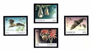 Samoa 827-30 MNH 1993 Bats